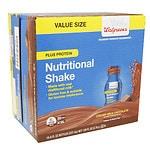 Walgreens Nutrition Shakes Plus Protein, Chocolate, 16 pk- 8 oz