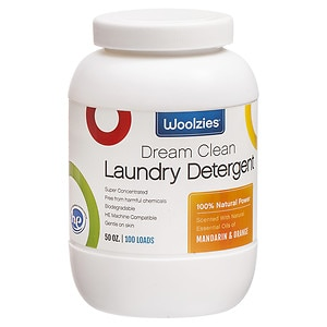 Woolzies Natural Powder Laundry Detergent, Mandarin Orange, 100