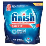 Finish Powerball Tabs Automatic Dishwasher Detergent, Shine & Protect Max in 1- 48 ea