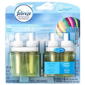 Febreze NOTICEables Dual Oil Refills Air Freshener, Fresh Sky, 2 Refills
