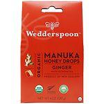 Wedderspoon Organic Manuka Honey Drops, Ginger- 4 oz