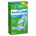 Curad Soothe & Cool Instant Cooling Technology Clear Gel Bandages, Assorted- 8 ea