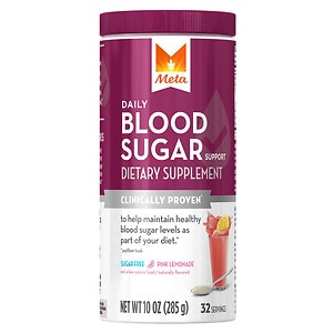 Meta Daily Blood Sugar Support, Powder, Pink Lemonade, 10 oz