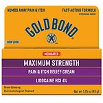 Gold Bond Pain & Itch Cream with Lidocaine- 1.75 oz
