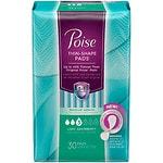 Poise Thin-Shape Incontinence Pads for Women, Light Absorbency, Regular Length- 30 ea