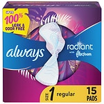 Always Radiant Infinity Pads With Wings Regular- 15 ea