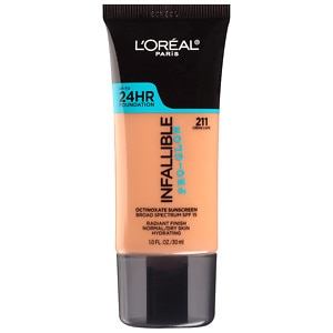 L'Oreal Paris Infallible Pro-Glow Foundation, Creme Cafe