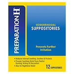 Preparation H Suppositories- 12 ea