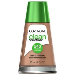 CoverGirl Clean Sensitive Skin Liquid Foundation, Natural Beige, 1 oz