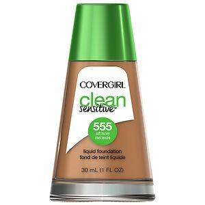 CoverGirl Clean Sensitive Skin Liquid Foundation, Soft Honey, 1 oz