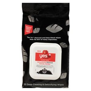 Yes to Tomatoes Detoxifying Facial Wipes, Charcoal
