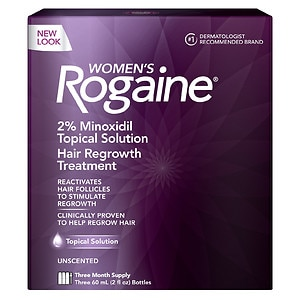 Women's Rogaine Hair Regrowth Treatment, 3 Month Supply, 3 pk