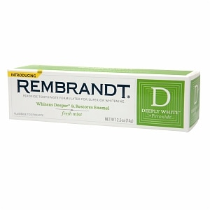 Rembrandt Deeply White + Peroxide Whitening Toothpaste with Fluoride, Fresh Mint- 2.6 oz