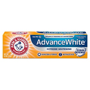Arm & Hammer Dental Care Advance White Extreme Whitening Baking Soda & Peroxide Toothpaste, Fresh Mint