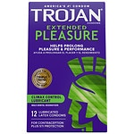 Trojan Extended Pleasure Latex Condoms with Climax Control Lubricant