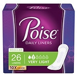 Poise Liners, Very Light Absorbency