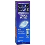 Clear Care Triple Action Cleaning & Disinfecting Solution- 12 fl oz