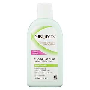 Phisoderm Fragrance Free Cream Cleanser, Sensitive Skin