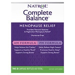 Natrol Complete Balance, AM & PM for Menopause, Two Comprehensive Formulas, 2 pk- 30 ea