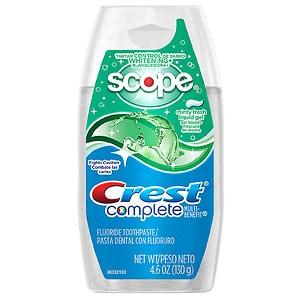 Crest Complete Multi-Benefit Whitening Liquid Gel Toothpaste, Minty Fresh- 4.6 oz