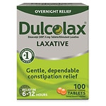 Dulcolax Overnight Relief Laxative Tablets- 100 ea