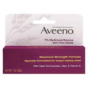 Aveeno Maximum Strength Anti-Itch Cream, 1% Hydrocortisone&nbsp;