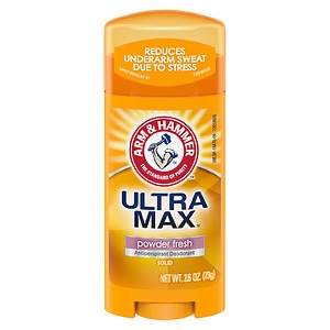Arm & Hammer Ultramax Antiperspirant Deodorant Solid, Powder Fresh- 2.6 oz