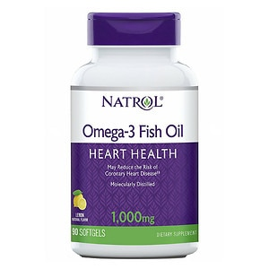 Natrol Omega-3 Fish Oil, 1000mg, Softgels, 90 ea