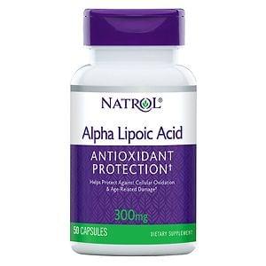 Natrol Alpha Lipoic Acid, 300mg, Capsules- 50 ea