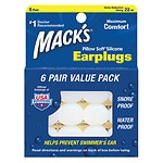 Mack's Pillow Soft Silicone Earplugs, Clear, Value Pack