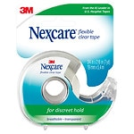 Nexcare First Aid Tape with Dispenser, Flexible Clear, 3/4 in. x 252 in.
