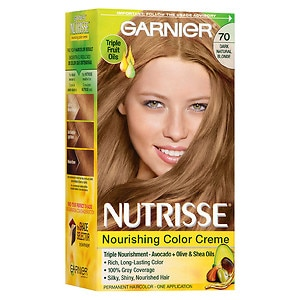 Garnier Nutrisse Permanent Haircolor, Almond Creme 70- 1 ea