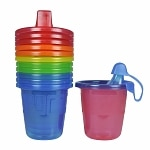 The First Years Take & Toss Recycle Spill-Proof Cups, 6 months+ (Colors May Vary)