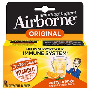 Airborne Effervescent Tablets, Zesty Orange