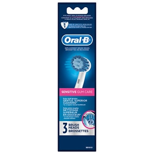 Oral-B Professional Care Sensitive Replacement Electric Toothbrush Head- 3 ea