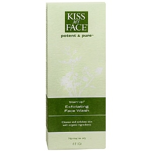 Kiss My Face Potent and Pure Start Up, Exfoliating Face Wash- 4 fl oz