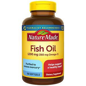 Nature Made Fish Oil, 1200mg, Liquid Softgels- 100 ea