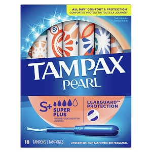 Tampax Pearl Tampons, Unscented, Super Plus