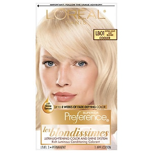 L'Oreal Paris Superior Preference Les Blondissimes Fade Resistant Colorant, Extra Light Ash Blonde LB01, 1 ea