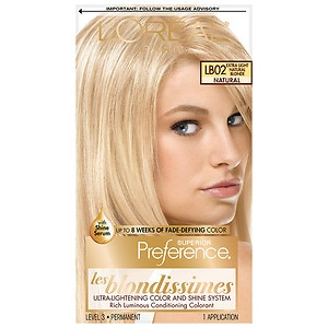 L'Oreal Paris Preference Les Blondissimes Fade Resistant Colorant, Extra Light Natural Blonde LB02- 1 ea