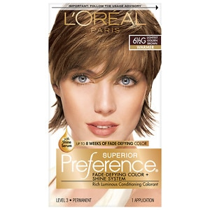 L'Oreal Paris Preference Fade Defying Color & Shine System, Permanent, Lightest Golden Brown 6 1/2G