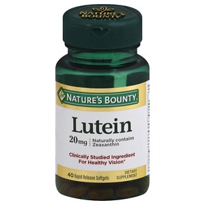 Nature's Bounty Lutein, 20 mg, Softgels- 30 ea