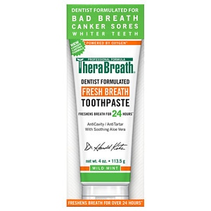TheraBreath Naturally Oxygenating Toothpaste with Fluoride, Mint- 4 oz