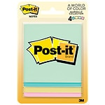 Post-it Notes 4 Pack, Pastels- 4 ea