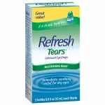 Refresh Tears, Lubricant Eye Drops, 2 Bottles