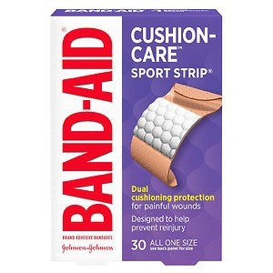 Band-Aid Sport Strip Bandages, Extra Wide