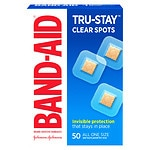 Band-Aid Perfect Blend Clear Bandages, 7/8 in x 7/8 in Square