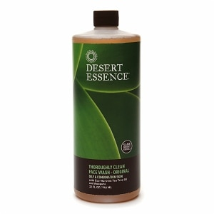 Desert Essence Thoroughly Clean Face Wash with Organic Tea Tree Oil and Awapuhi- 32 oz