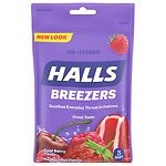 Halls Fruit Breezers, Cool Berry- 25 ea