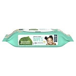 Seventh Generation Thick n' Strong Baby Wipes with Flip Top Dispenser, Free & Clear- 64 ea